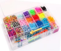 rainbow loom rubber band - 4200pcs Rainbow Loom Kit DIY Wrist Bands rubber band Complete Bundle Kit Rainbow Loom Bracelet for kids Hot New