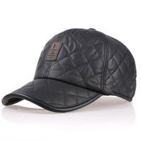 baseball cap protectors - Baseball caps for men new snapback cap woolen autumn and winter warm hat cold hats ear protector