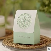 Wholesale Light Green Hollow Pattern Wedding Gift Boxes best share