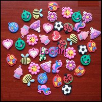 Cheap Mixed girl DIY Pendant Assortment Charms for Rainbow Color Loom Bracelets small pendant styles for Key Chain