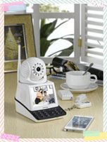 Wholesale 3 Inch TFT LCD Mobile Phone Network Camera Wireless CCTV Alarm System Free Call IP Camera Video Call Chat Record function Remote monitor