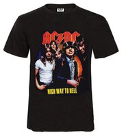 ac dc fashion - Summer style t shirt men AC DC rock band men s tshirt new cotton hip hop t shirt men fashion short sleeve tees man