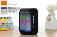 Wholesale Pc Speakers free Dhl New Wireless Bluetooth Mini Speaker My530bt Subwoofer Hifi with Colorful Led Light Support Usb Tf Card Handfree