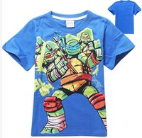 Cheap Hot sale Cool 3-8 Years baby Kids Boys Teenage Mutant Ninja Turtles T-Shirt 100% Cotton children's clothing free shipping
