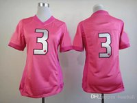 Cheap NEW Seahawk #3 Pink Love's Women's Jersey American Football Jerseys Embroidery Name and Logo Allow Mix Order Free Shipping