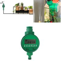 Wholesale Garden Timers Controllers Home Electronic LCD Water Timer Garden Irrigation Controller Set Programs Ln Watering Equipments Hot
