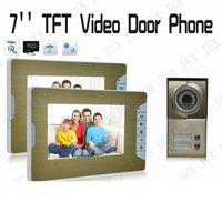 Wholesale Home Security Entry Intercom System Home INCH TFT Video Door Phone Doorbell Video Recording photo taking doorphone