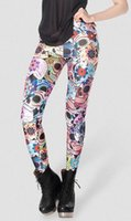 Wholesale REGINO KNITTING X NEW SEXY fashion Day of the Dead Leggings women digital printed pants S M L XL