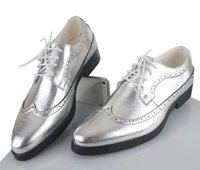 Wholesale NEW classic men s gold leather lace up shoes fashion leisure business wedding groom shoes breathable shoes mens dress shoes black