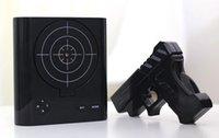 shooting targets - Novelty Target Panel Shooting Game LCD Gun Alarm Clock Gadget Toy Gift Clocks Gun Shooting Target Wake UP Alarm Desk Clock Gadget