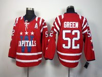 Wholesale Capitals Team Jerseys Brand Mike Green Hockey Jerseys Red Winter Classic Ice Hockey Jersey Top Quality Athletic Outdoor Apparel