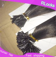 Wholesale Micro Head Beads Fushion Hair extensions Peruvian Human Hair Straight packs Many Different Colors B Full Bundles NEW NEW