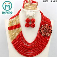coral coral necklace - hot selling high quality elegant African fashion bead jewelry sets a of different kinds of styles hefeng HJ091