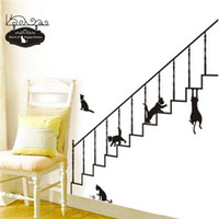 beautiful stair - Beautiful Design DIY Black Stairs Removable Wall Stickers Home Decor Decal Art Wallpaper Lowest Price