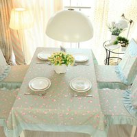 Wholesale Kemi textile fabric tablecloth Continental pastoral style floral table cloth upholstery flag Dust Kit can be customized system