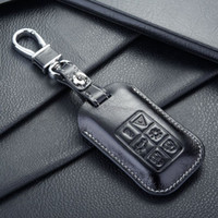 Wholesale FOB leather key case cover for Auto volvo key case shell keyrings key holders wallet bags keychain accessories for volvo cars