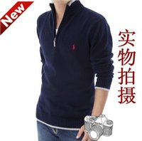 Wholesale Men loose lapel contracted the render of cardigan man knit sweater cotton coat keep warm render unlined upper business pullovers