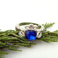 Band Rings asian school - New Statement rings Harry Potter Ravenclaw School BLUE CRYSTAL Ring Weeding Ring For Women