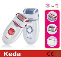 Wholesale Shaving Hair Removal Epilator Keda KD B Callus Remover electric Rechargeable Epilator Hair Removal Lady Shaver Shaving in