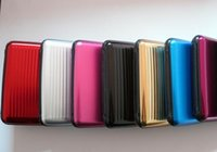 credit card - 10pcs Hot Aluminium Credit card wallet case card holder bank case aluminum wallet variable colour for