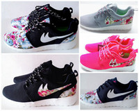 woman shoes casual - New Roshe Run Floral Women And Men Running Shoes Fashion Athletic Casual Sports Shoes Flower Boys Mesh Free Run Shoe