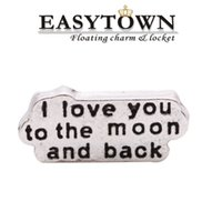 Wholesale new silver i love you locket charm fits floating lockets for fashion pendant
