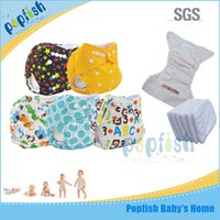 baby fine diapers - China supplier Popfish Disposable Baby Fine Reusable Washable Sleepy Pants PUL Diaper Insert Baby One Pocket Diapers