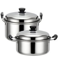 Wholesale 20 cm American Style Stainless Steel Soup Cooking Pot Cookware sets Stock Pot Soup Pot with Compound Bottom