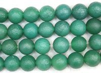 """15.5 """"verde redondo polaco embotado mate bolas de piedra ágata del Onyx 8 mm Tamaño fabricación de la joyería de envío libre al por mayor"""
