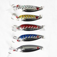 Wholesale 5PCS mm Metal Fishing Lure Metal Spoon Bait Quality Fishing Lures Artificial Dragon Scale g