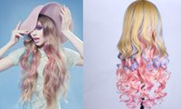 Cheap Multicolor Long volume wigs Best Lolitasynthetic lace front wigs
