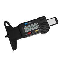 Wholesale High Quality Plastic Carbon Fiber Car LCD Digital Display Tread Depth Gauge Digital Vernier Caliper INS_417