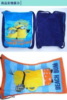 Wholesale minions school travel shopping bag kid minions backpack bag Despicable Me swim beach bag with towels christmas halloween gift