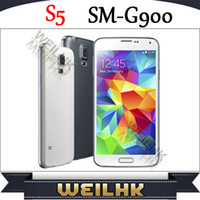 Wholesale New Product S5 Android4 OS Mobile Phone MTK6589 Quad Core With Inch Single Micro Sim Fingerprint G ROM Unlocked GSM MP Camera