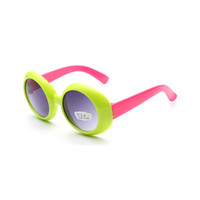 Wholesale 2016 New Kids Lovely Round Sunglasses UV400 protection Trendy Outdoor Outing Playing Glasses Climbing Camping Eyewear Bright Colors