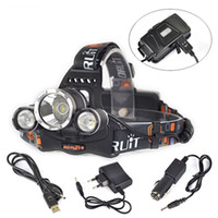 Wholesale 6000 Lumens x XM L T6 LED Headlamp Head Light Torch USB EU Charger LHL_10D