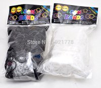 bands gear bags - new black and white Gear wave loom Rubber Bands bag S clips hook For DIY BRACELET bags