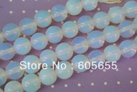 Wholesale 4mm High Quality White Opal Round Beads Semi Precious stone loose beads strands per