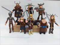 Wholesale 8pcs A Set How To Train Your Dragon Hiccup Astrid Stoick Fishlegs PVC Figure Y30227