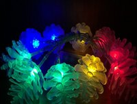 Wholesale Pine Cone Battery String Light Outdoor Decorative Lights for Christmas Wedding Party White