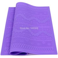 Wholesale New Arrivals Silicone Mat Fondant Cake Decorating Styling Tools Kitchen Silicone Lace Mold Flower Pattern