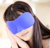 Wholesale 500PCS LJJH725 Travel Rest D Sponge Eye MASK Black Sleeping Eye Mask Cover for health care to shield the light Gift