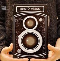 bamboo photo albums - NEW Creative Camera design DIY Multifunction photo album with Corner sticker home decor dandys
