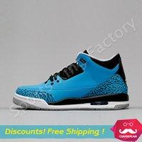 avatar art - 2016 Avatar Retro basketball shoes Retro III blue Men Women Cheap Sport Shoes Athletic shoes low Cut basketball shoes US