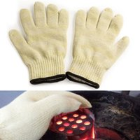 Wholesale 1 pc Heat Resistant Oven Glove Kitchen Anti hot Outdoor Barbecue Hot Surface Protector Glove