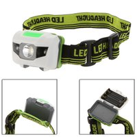 3w led red - 3W White LED Headlamp Modes Headlight Red LED Flashlight Outdoor Camping Night Fishing Cycling Head Lamp Light Y0053