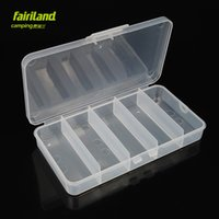 Wholesale 7in in medium size section Polypropylene bait box transparent plastic lure boxes potable fishing tackle box Storage case