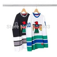 Wholesale 2016 Supreme THUNDERBIRD Jersey HOCKEY BLACKHAWK FIELD PULLOVER Authenic Sport Jerseys White Black XXS XL Free Shiping