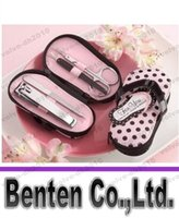 Wholesale Kate Aspen Flip Flop Pink Dot Polka Pedicure Set Bridal Shower Favor Wedding Party Gfits LYA17