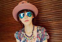 Wholesale New Metal Frame Sunglasses Dazzle Colour Senior Reflective Sunglasses Driver Lady Sunglasses You Deserve This High Quality Sunglasses